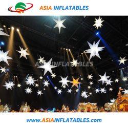 Iluminação infláveis infláveis estrela estrela funky com iluminação de LED