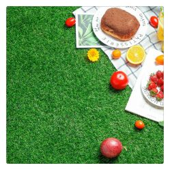 Vert Gazon artificiel synthétique de football de l'appui de l'herbe verte