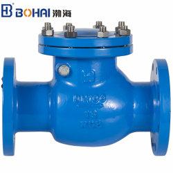 Ferro dúctil Industrial de giro da válvula de verificação de EPDM ou latão vedação utilizada para a água do tubo de controle