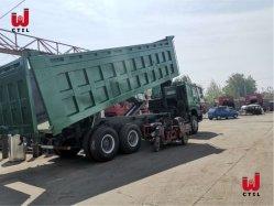 Usado HOWO Caminhão Basculante 8X4 371HP 375HP de Carga do Veículo