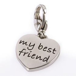 A amizade de bijutaria gravura o meu melhor amigo Charme