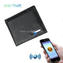 Fabricant Magic Bluetooth Portefeuille en cuir avec GPS antivol de bloqué (UE5000)