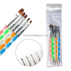 5pcs par set Double extrémités Brosse à ongles Dotting Pen pour les jeunes la beauté féminine
