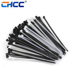 На заводе провод кабеля обязательного пластиковый нейлоновый кабельную стяжку черно-белый