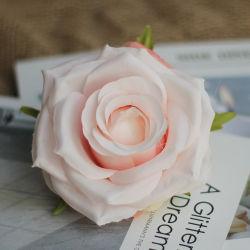 وصول جديدة ملونة سيلك كبيرة مصطنعة رؤوس بالجملة اصطناعية زهرة زهرة للزهور لزينة الزفاف