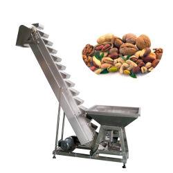 Transportador de entrada Tipo inclinada para o elevador de canecas com o vibrador do funil de alimentação