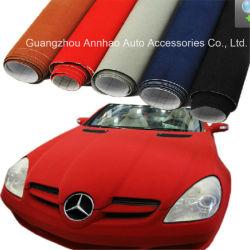 Alquiler de Interior, estirar la etiqueta de color rojo terciopelo autoadhesivo rollos de envoltura