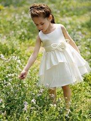 Dress秋のイブニング・ドレスの花の服の王女