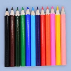 Personalizable Hexagonal ecológica de 3.5 pulgadas 12 pzas lleva suave de madera de lápiz lápices de colores en caja de papel