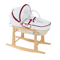 Handmade lit bébé Lit bébé en bois organiques naturels berceau bébé de dormir dans Mose Panier