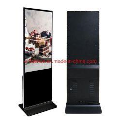 コマーシャル55インチのスクリーンを広告するデジタル表記LCDを立てる縦のキオスクの床