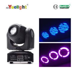 Contrôleur DMX 30W LED Spot Light Mini Disco DJ Déplacement manuel de la tête de l'éclairage