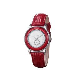 승진 숙녀 세라믹 파마 시계 가죽 고전적인 손목 시계 (WY-023A)