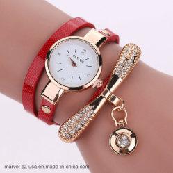 Couro Casual Rhinestone relógio de quartzo Analógico Bracelete Mulheres Moda relógios