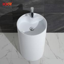 Sanitarios moderno lavabo de pedestal de piedra blanca