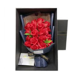 18ПК мыло цветочный подарок окно закрывается Carnation искусственного мыло цветочный букет на День святого Валентина подарок