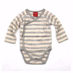 Merino Baby Bodysuits Kleding NZ Sheep Run Merino Wool gestreept Baby Go Go Go-tas met lange mouwen