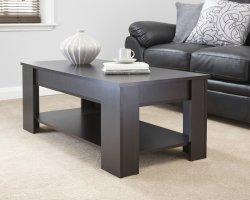 Soulevez le haut Table à café avec le stockage et de meubles de salle de vie Undershelf (HF-GW035)