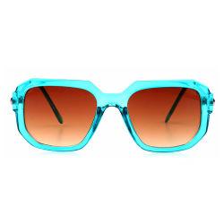 Luz de quadrados moldura azul para óculos de lente Marrom