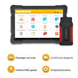 هامزور نيكزداس ND606 Plus، محرك أقراص Tablet Diesel والجازولين مقاس 10 بوصات تدعم أداة تشخيص النظام الكاملة للماسح OBD2 المدمجة 12 فولت إلى 24 فولت شاحنة وشاحنة ثقيلة طراز Deco
