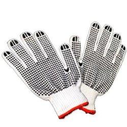 La sécurité des gants de la main en PVC des gants de coton en pointillés recto-verso