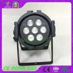 DJ小型平らな4in1 70W RGBW LEDの段階の同価ライト