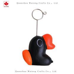 Venda por grosso de animais de resina Clipes Memo Pato decoração doméstica
