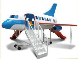 Flugzeugmodell für Kinder mit Slide Playground Firberglass