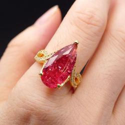Оптовая торговля мода украшения Fusion Центр камня кольцо в латуни#медь