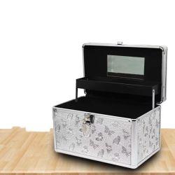 La belleza caso Maletín cosméticos caso instrumento Box Caja de aluminio