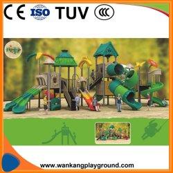 Детский сад пластиковые слайд для использования вне помещений (WK-A190409)