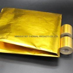 Resistente a incêndio sensível à pressão Ouro Adesivo Refletivo Folha de calor