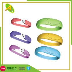 Più nuovo braccialetto del silicone del nero di marchio di Debossed (007)