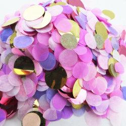Papel de Casamento Papel Ouro Confete Confete Confete metálico para Bobble balões e decorações de terceiros