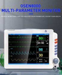 Интенсивная терапия Multipara частота сердечных сокращений ЭКГ монитора пациента с помощью модуля ETCO2 и модуль ИАД