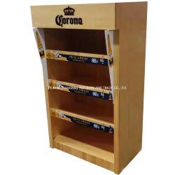 CY098-Hot vender cerveja de madeira personalizadas/Vinho Rack de exibição