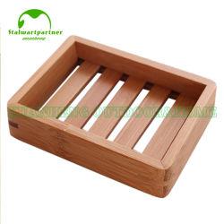 Supporto di bambù sveglio del sapone dell'hotel del supporto del piatto di sapone del regalo di adattamento