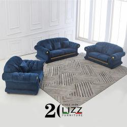 سعر جيد غرفة المعيشة أثاث منزل دبي تصميم أقمشة حديث أريكة Set Luxury Home Velvet Couch