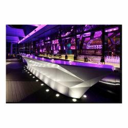 LED aceso em mármore interativo do Contador da barra de luz LED branca estilo barco Hi-Macs Comercial iluminado Pub Lounge Bar Counter