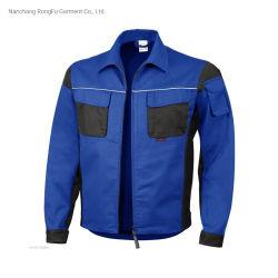 형식 Mens 일 의류 면에 의하여 혼합되는 직물 작업복 재킷