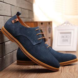 Negocios de estilo retro Oxford Casual vestido de cuero genuino de los hombres los zapatos de cuero