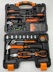 53PCS ميكانيكيا إصلاح الصيانة مجموعة الأدوات اليدوية، الكربون الصلب مع معالجة الحرارة