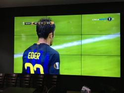 55дюймовые напольные 3X3 3,5 лицевую панель ЖК-видео рекламы на стене экрана дисплея