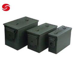 الجيش الأخضر القياسية M2a1 Gd1002 اممو معدنية مربع / رصاصة معدنية صندوق أدوات التخزين/صندوق Aالبرلماني الدولي لتجارة الجملة مقاومة للمياه صندوق أموو معدني عسكري