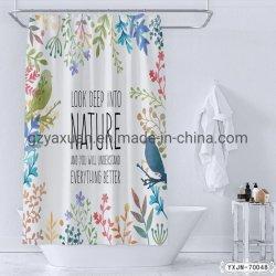 Оптовая торговля Новейшие красочные PEVA смешные цветочный рисунок водонепроницаемый, ванная комната ткань душ шторки