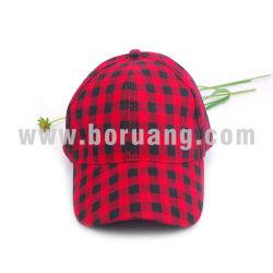 도매 빨간 격자 무늬 가득 차있는 인쇄를 가진 우연한 야구 모자