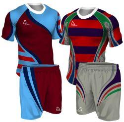 Fashion Rugby Club Azul personalizadas por sublimação de tinta de alta qualidade Sport uniformes de Rugby de desgaste dos homens os Kits de Rugby OEM camisas de Rugby Jersey