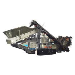 Maquinaria de minería de datos tipo oruga trituradora de cono móviles trituradora de mandíbula con el alimentador y Screener