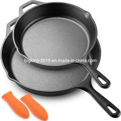 Neuer Entwurfc$vor-reifer preiswerter kundenspezifischer runder Cookware-Bratpfannen-RoheisenSkillet