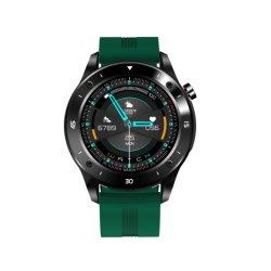 クリスマスのギフトの完全な円形の接触スクリーン Smartwatch NFC のシリコーンの革ひも 高齢者向けの電子音声認識